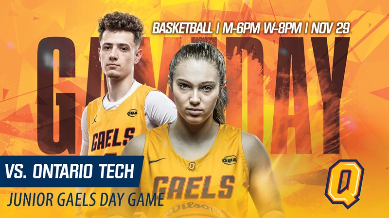 Gaels This Week: Gaels basketball hosts Ontario Tech for Junior Gaels Day on Friday night