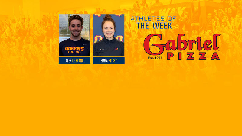 Ritcey and Le Blanc named Gabriel Pizza Varsity Athletes of the Week